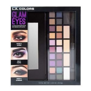 L.A. colors glam eyes eyeshadow pallet makeup NEW
